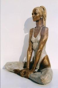Dopo la battaglia cm.78x34x22 anno 2006 - statue statuette e sculture di bronzo in vendita a prezzi speciali dall'artista scultore