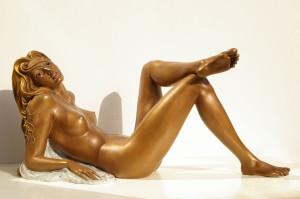 Ballerina cm.33x33x20 anno 2001 - statua donna ballerina sculture statue donne statuine statuette ballerine in bronzo