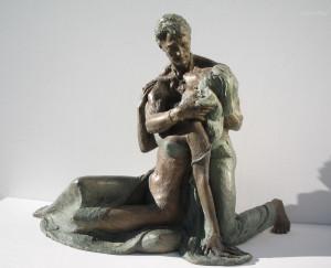 157-Amanti-a-cod.157-cm.45x58x27-anno-2005-statua-bronzo-donna