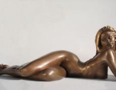 Nudi artistici statua in bronzo
