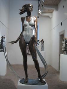 Scultura in bronzo - Statua ballerina