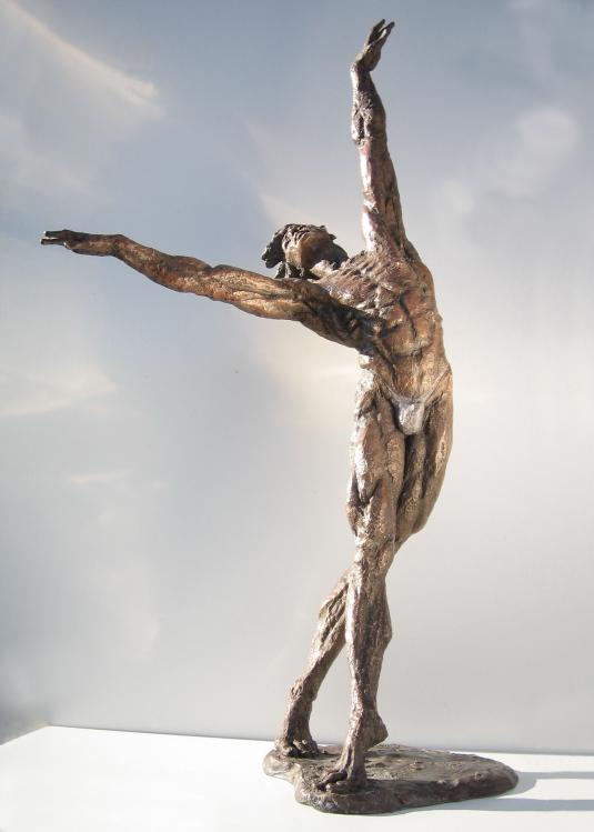 Scultura in bronzo - Statua ballerino