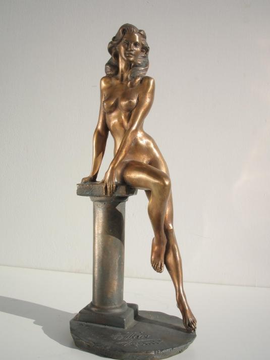 Statua in bronzo - Statua donna