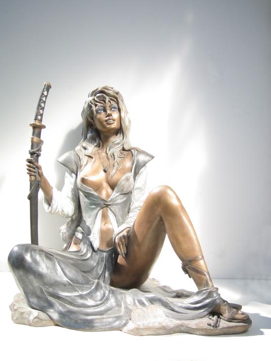 Scultura in bronzo - Dea Giustizia