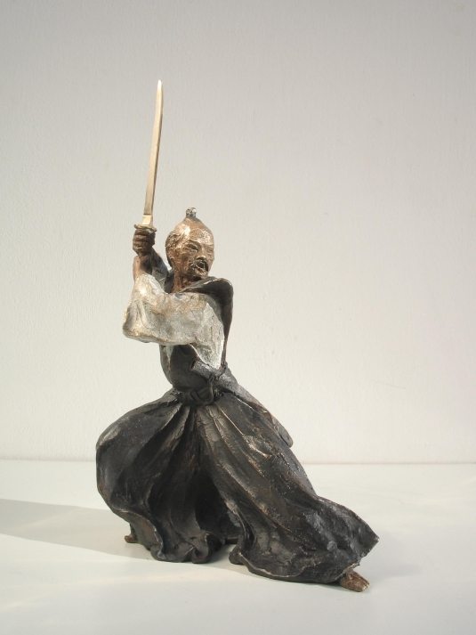 Scultura in bronzo - Samurai