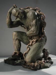 Scultura in bronzo - Le catene della vita