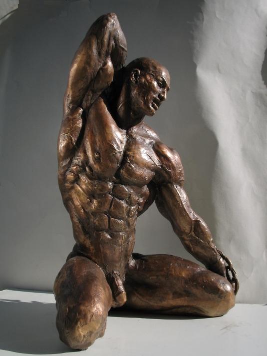 statua in bronzo - catene della vita