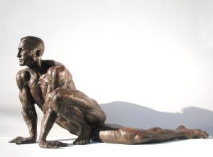 Scultura in bronzo - Atleta in riposo