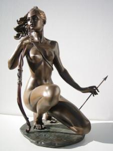 Scultura in bronzo - Dea Diana