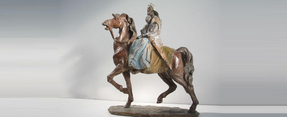 Donne-amanti-scultura-in-bronzo
